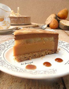 Карамельно-грушевый тортик