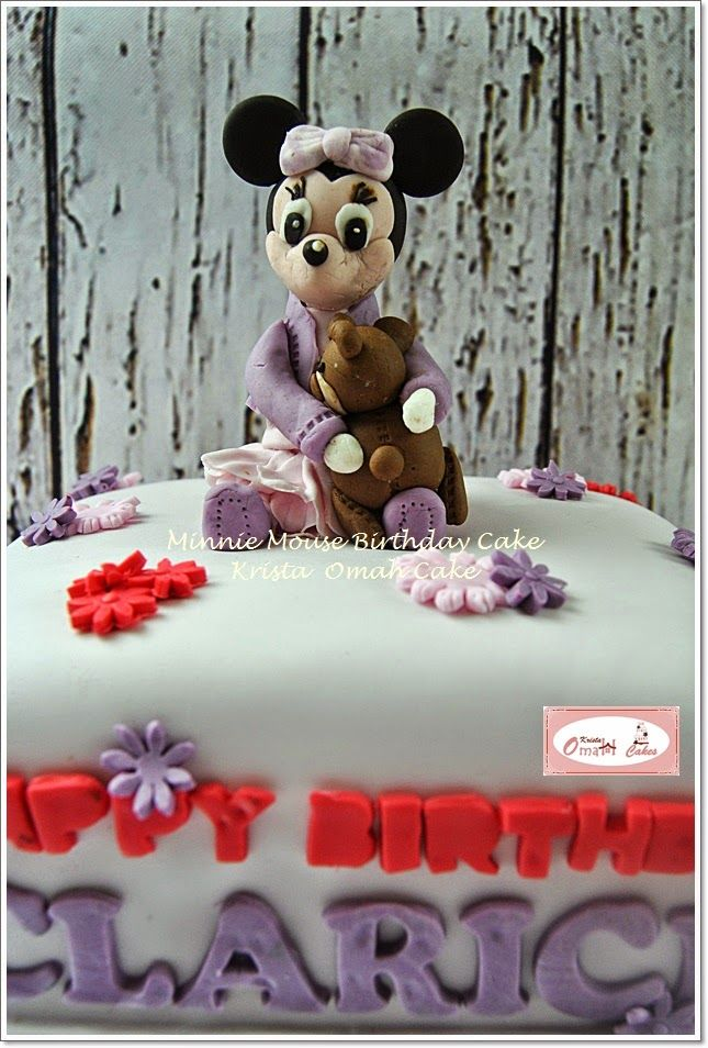 KRISTA MOCAF KITCHEN: Minnie Mouse Birthday Cake