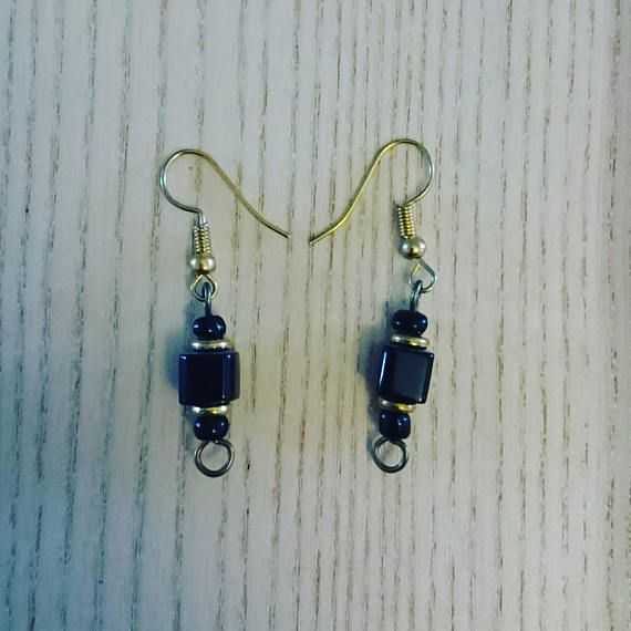 Afrocentric handcrafted earrings black dangling earrings