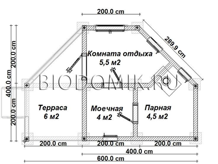Необычная баня 4х6 » Проекты » Строительство в Ленобласти и Подмосковье