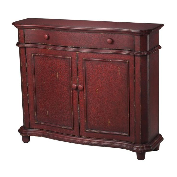 """Sterling Industries 88-1210 Forest Knolls 40"""" Height Cabinet Mahogany Crackle Furniture Storage Cabinets"""