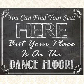 DIY Wedding Reception Decoration Seating Assignment by JusGraphics, $3.75