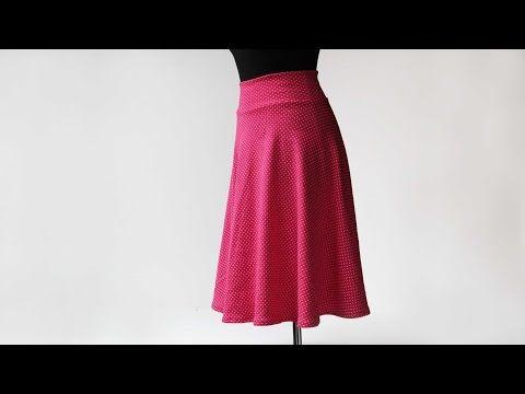 Návod jak ušít půlkolovou sukni - YouTube