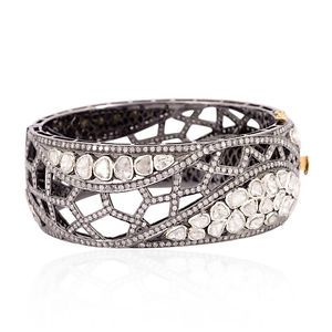 New-Arrival-19-15-ct-Diamond-18kt-Gold-Bangle-Sterling-Silver-Wedding-Jewelry