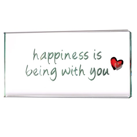 Happiness is being with you... such a cute token!