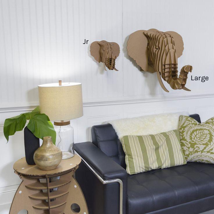 Cardboard Safari предлагает большой выбор картонных чучел животных для украшения интерьера. Предлагаем как пример — Eyan — это чучело головы слона, которую создал Luis Rodrigalvarez.  Красивый современный дизайн делает Eyan идеальным украшением для дома или офиса, это также отличный творческий подарок для друзей.  Eyan производится из экологически безопасного гофрокартона. Детали Eyan изготовлены при помощи лазерной резки, с максимальной точностью.   http://am.antech.ru/m5Gv