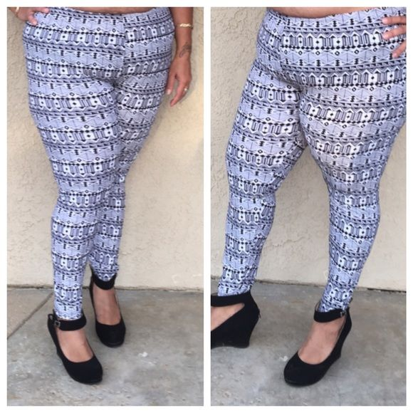 Plus size printed leggings Perfect all year long . Other prints also available . Pants Leggings