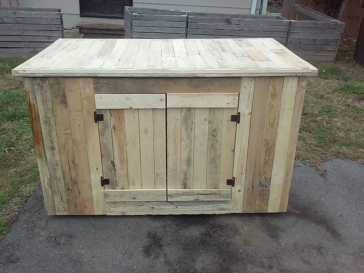 done with separated apart pallet boards nice kitchen outdoor cabinets rta wooden