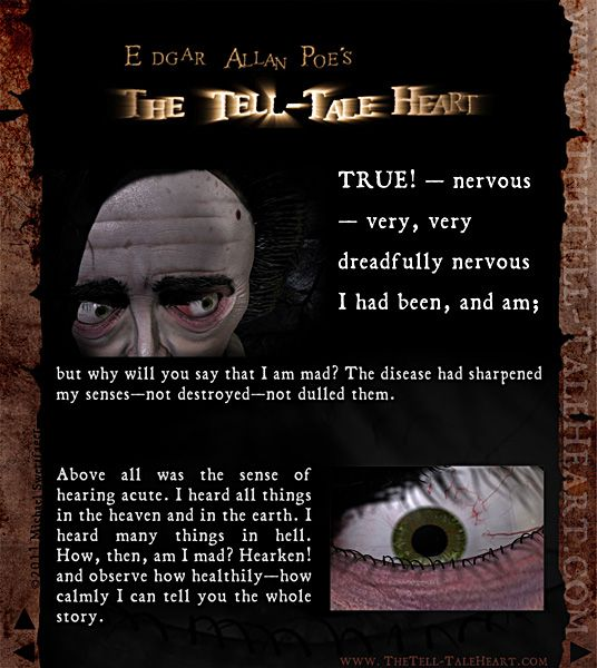 Tell Tale Heart Quotes: Pin By Halicrazy James On D.I.Y. Projects