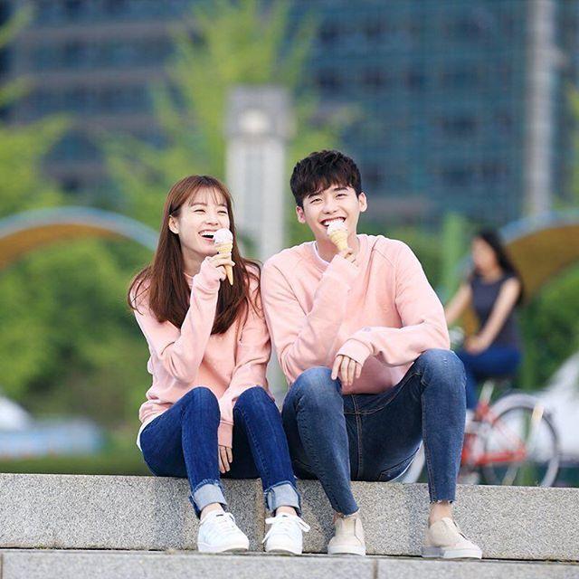 "Behind the scene filming ""W"" #leejongsuk And #Hanhyojoo"