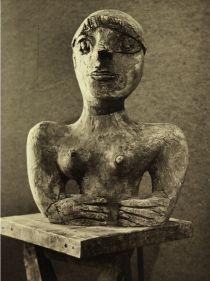wanda czełkowska, autoportret, 1959, gips