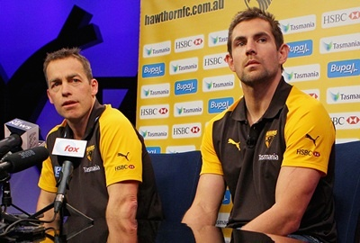 Hawthorn captain Luke Hodge has disclosed how the Hawks have targeted fast starts... (Kim Hagdorn for SportsNewsFirst)