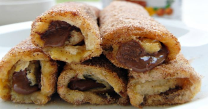 Σήμερα τα παιδιά θα φάνε γαλλικά ρολάκια με ψωμί του τοστ και μερέντα!