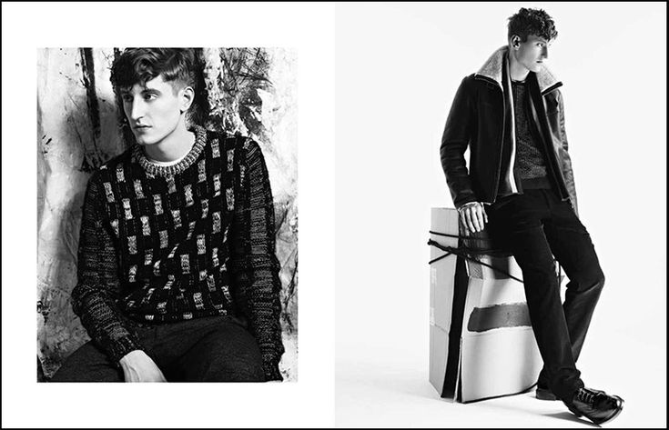 Chris Beek fronts the Fall/Winter 2013 campaign of Nicole Farhi, photographed by Mel Bles.