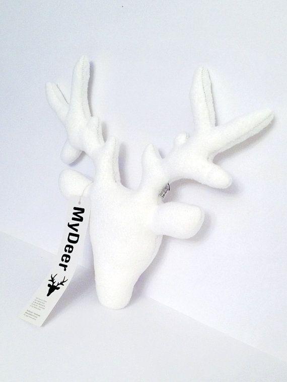 MyDeer | hert | wit | zacht | +/- 36 cm