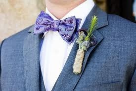 Lavender buttoniere for a purple wedding?
