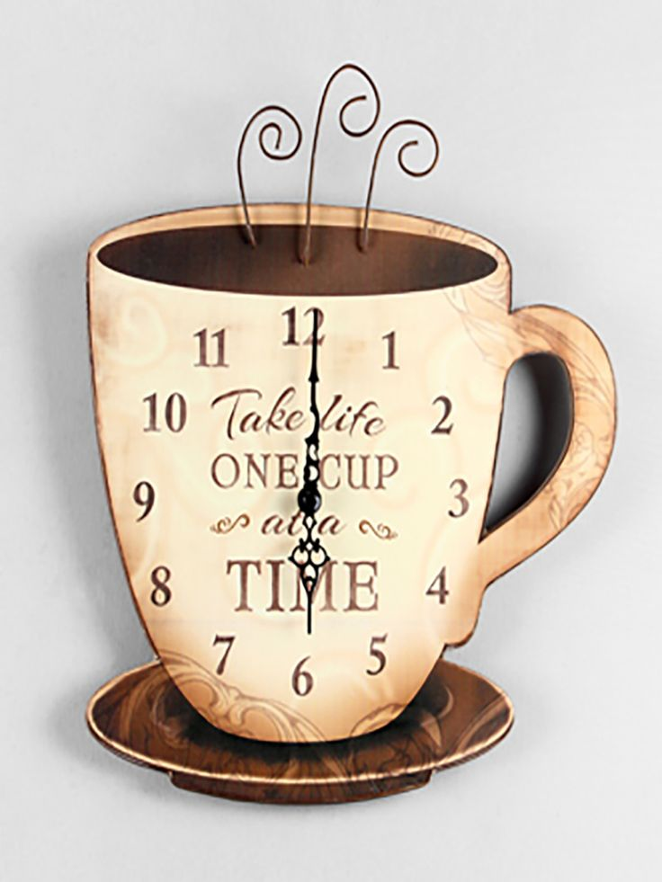 Rustic Wood Coffee Wall Clock | ZallZo.com