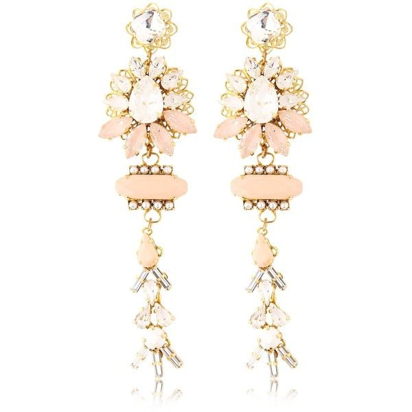HALO & CO Mother Earth Earrings ($552) ❤ liked on Polyvore featuring jewelry, earrings, brinco, nude, swarovski crystal jewelry, nude jewelry and swarovski crystal earrings