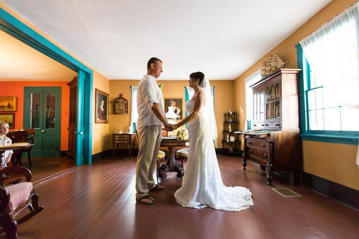 Garden wedding of Amy and Greg at The Oldest House and gardens Key West featured on @rusticwedchic website...love it #keywest #wedding #gardenwedding