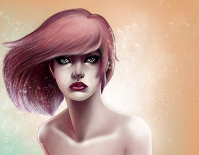 "Check out new work on my @Behance portfolio: ""Colorful girl 5""…"