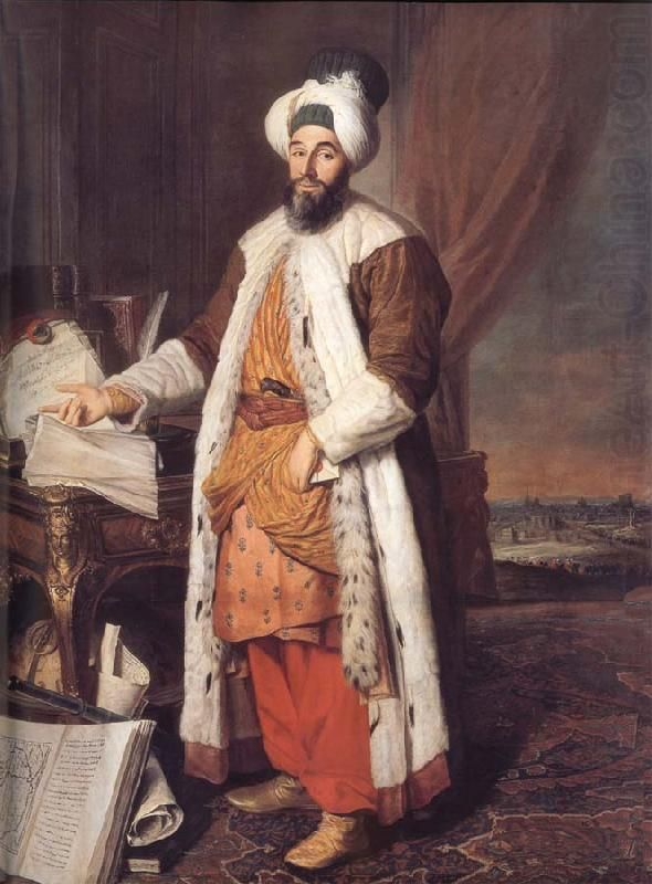 Pasha Mehmed Said, Bey of Rovurelia, Ambassador of Sultan Mahmud I at Versailles, 1742 by Jacques-Andre-Joseph-Camelot Aved