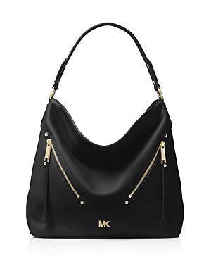 844af011a5cb MICHAEL KORS EVIE LARGE LEATHER HOBO.  michaelkors  bags  shoulder bags   leather  hobo
