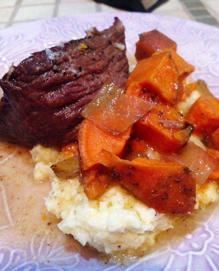 Oven Pot Roast with Sweet Potatoes