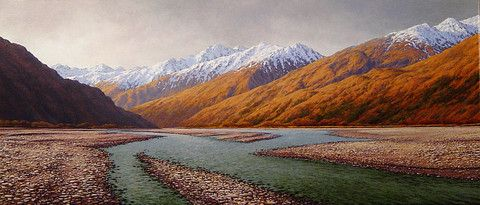 Last Light on Rees River by Mark Rodgers