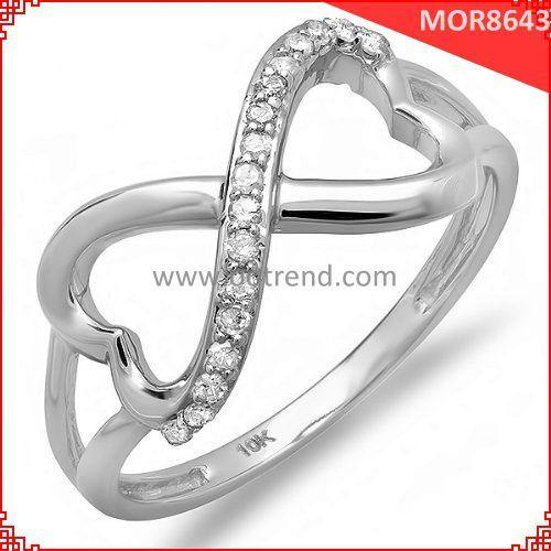 Donna bling infinito anelli di nozze, lucido anelli infintiy per regalo di nozze