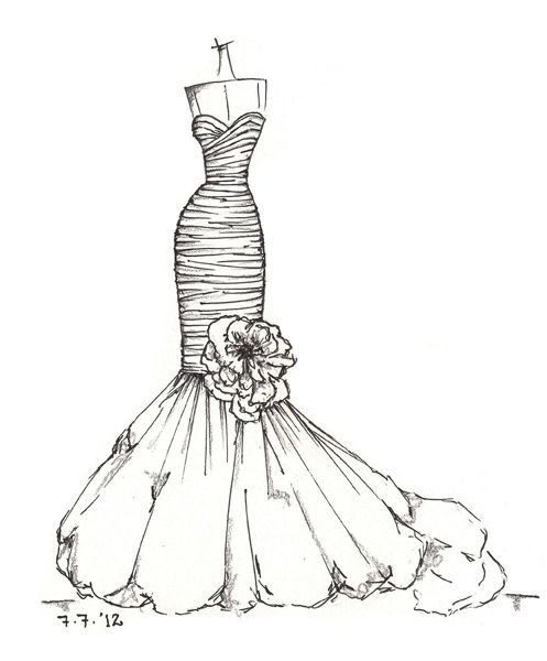 64 best images about wedding dress sketches on Pinterest ...