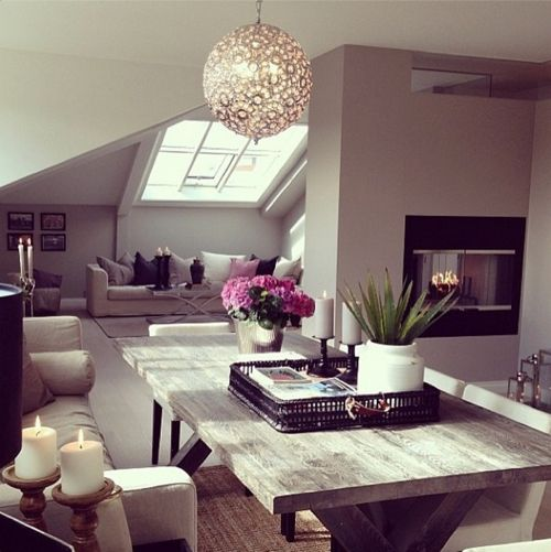 Cute & Cozy.. & i love the fireplace location