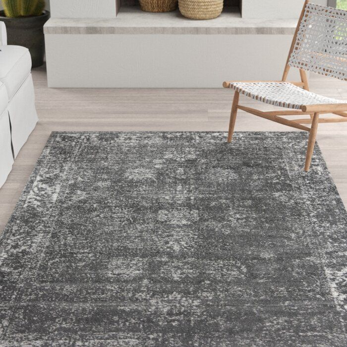 Mistana Brandt Dark Gray Area Rug Reviews Wayfair Area Rugs Silver Area Rug Grey Area Rug