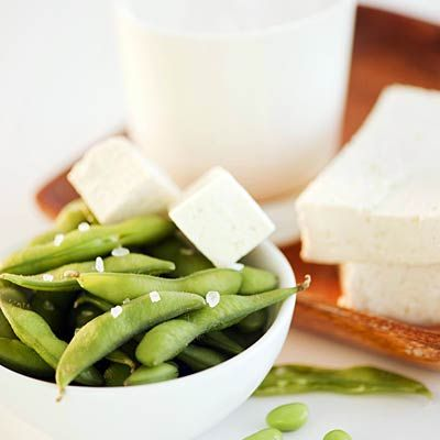 Soy  Several studies have suggested that isoflavones, estrogen-like compounds found in soy products, may help lower CRP and inflammation levels in women—and a 2007 animal study published in the Journal of Inflammation found that isoflavones also helped reduce the negative effects of inflammation on bone and heart health in mice.