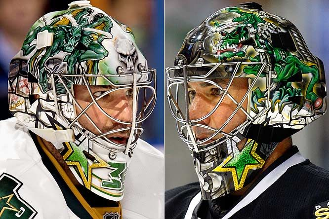 NHL Goalie Masks by Team ('09-'10) - Marty Turco | Sports Illustrated Kids