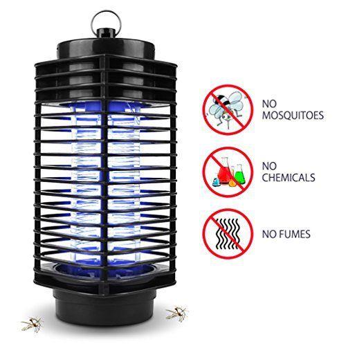 Lampe Anti-moustique NuoYo 11.5 ×26 cm Noir Photocatalyst Zapper Lampe les Meilleures Sécurises et Efficaces lampe par Anti-moustique/…