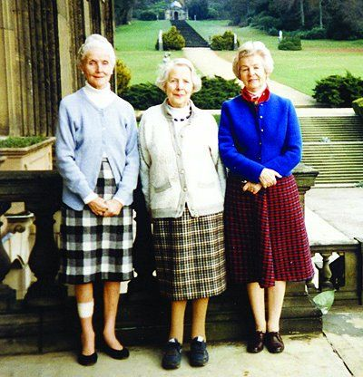 Diana, Pamela and Deborah   Mitford sisters Were they sent off to school--somehow I think their dad's excenticity might have blocked that, but still..