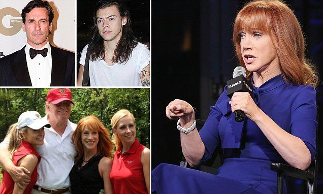 Kathy Griffin dishes on her celebrity run-ins with Jon Hamm in memoir