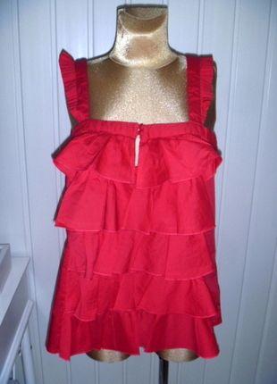 Kup mój przedmiot na #vintedpl http://www.vinted.pl/damska-odziez/koszulki-na-ramiaczkach-koszulki-bez-rekawow/9828328-piekna-czerwona-falbankowa-bluzka-z-firmy-next