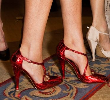 Thakoon's Ruby-Red T-Strap Pumps #shoes