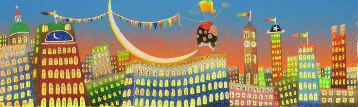 MELONISKY DA VILLACIDRO - ( CITTA  IN FESTA ) - serigrafia retouchè 25 x 60 cm