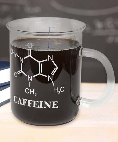 Love this Caffeine Molecule Laboratory Beaker Mug on #zulily! #zulilyfinds