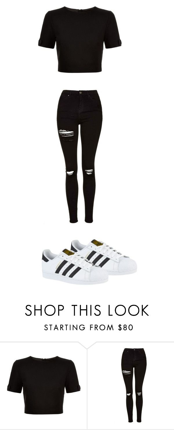 """""""Cuteee"""" by quadivaedwards ❤ liked on Polyvore featuring Ted Baker, Topshop and adidas"""