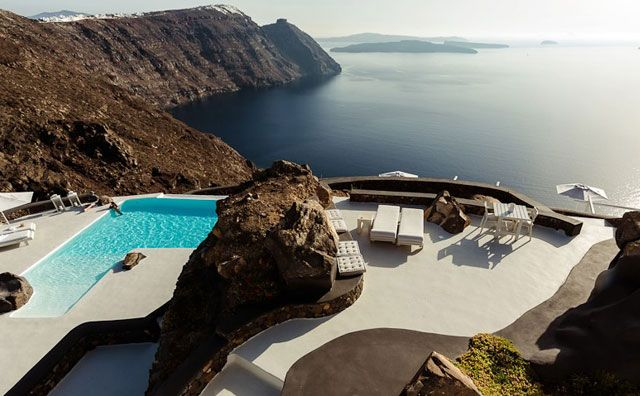 Jaw Dropping Views Of The Mediterranean From The Aenaon Villas In Santorini, Greece