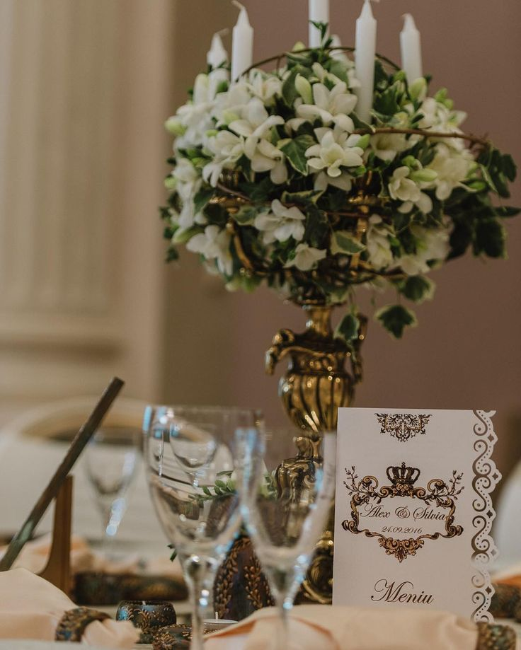 Royalty Wedding - Gold / Bronze Decor - Vintage , Antique, Royal, Elegant design - Bronze Candelabra -  by Satori Art & Event Design