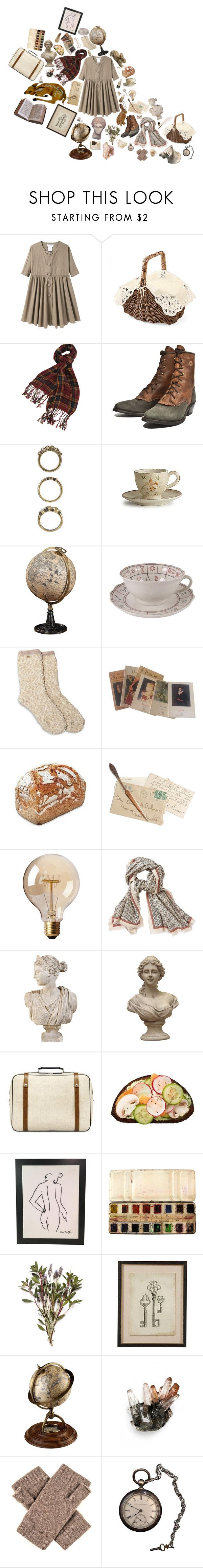 """""""inanity"""" by flyingmonkeys1995 ❤ liked on Polyvore featuring Charles Anastase, Forever 21, Arte Italica, Monet, Hobbs, Aigle, Zara, Ethan Allen and Authentic Models"""
