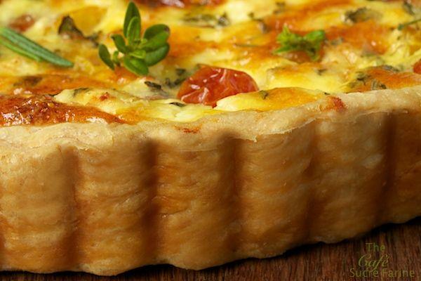 Rosemary and Lemon Goat Cheese Tart | Recipe | Cheese ...
