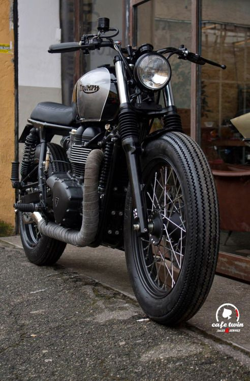 Triumph Bonneville Brat Style by Cafe Twin #motorcycles #bratstyle #motos | caferacerpasion.com