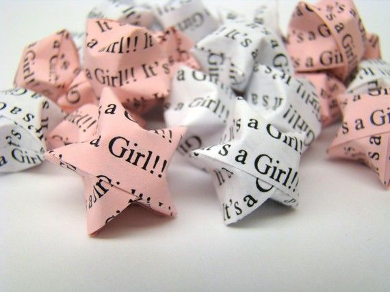 100 Origami Lucky Stars  Baby Shower  It's A by OrigamiDelights, $13.00