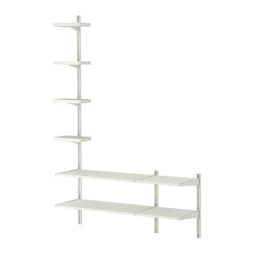 ALGOT Wall upright/shelves - IKEA. Place on the side walls in the closet.