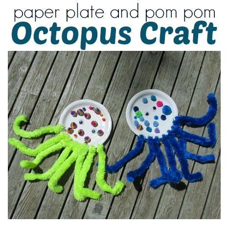 paper plate octopus craft